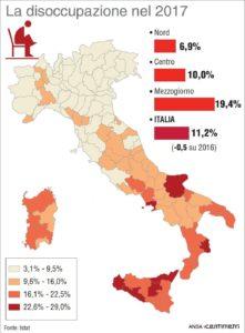 Nel Sud Italia la disoccupazione coinvolge 600mila famiglie senza lavoro, mentre cresce solo il lavoro precario.